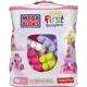 FP MEGA BLOKS Stavebnice 60 dílků v plastové tašce pro holky